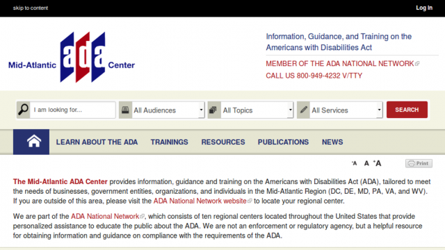 Mid-Atlantic ADA Website
