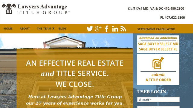 Lawyers Advantage Website