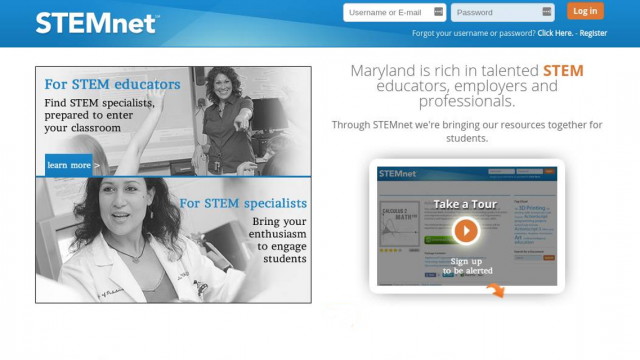 Maryland Business Roundtable's  STEMnet Website